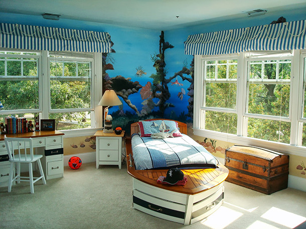 Amazing Natural Style Minecraft Kid Bedroom Interior Design