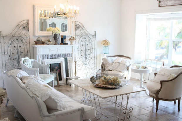 shabby chic living room furniture