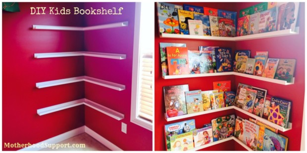 Diy storage ideas to organize kids rooms my daily for Book shelf for kids room