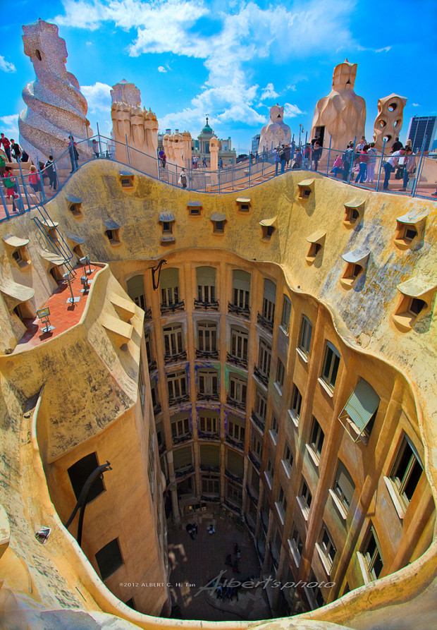 casa mila in barcelona spain my daily magazine art. Black Bedroom Furniture Sets. Home Design Ideas