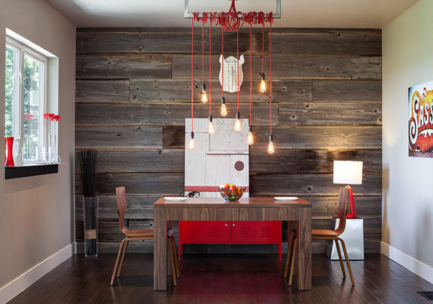 Source · Feature Wall In The Dining Room With Stripes