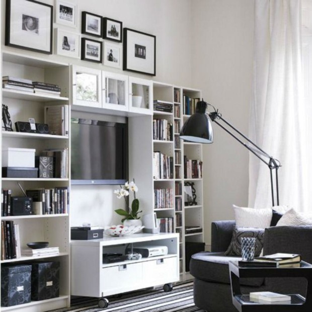 space under stairs & Storage-solutions-for-small-spaces-living-room - My Daily Magazine ...