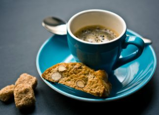 Biscotti with a side of coffee